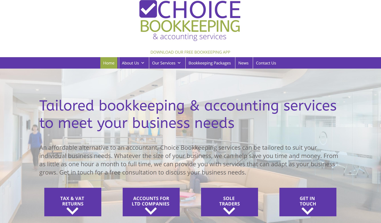 Screen Grab Choice bookkeeping