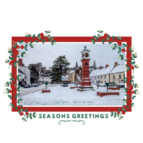 Usk in The Snow Christmas Card Product Image