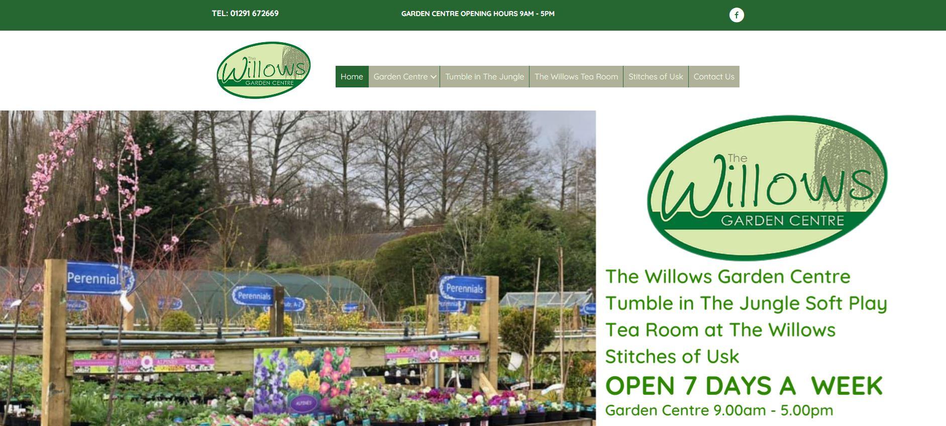 Willows Website Screen Capture